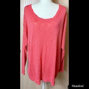 Torrid Coral  Sweater Sz 2 or 18-20 EUC